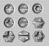 Metallbolzen und -schrauben Lizenzfreie Stockbilder