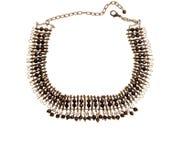Metallbraune Halskette lizenzfreie stockfotografie