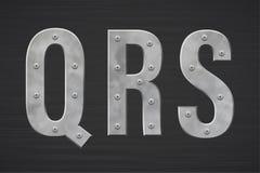 Metallbuchstaben mit Niet vektor abbildung