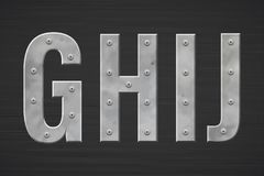 Metallbuchstaben mit Niet lizenzfreie abbildung