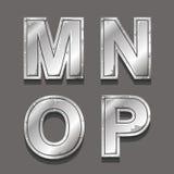 Metallbuchstaben und -symbole Lizenzfreie Stockfotos