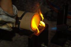 Metallcastingarbeit stockfotografie