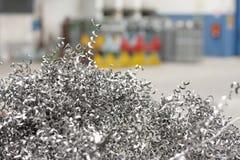 Metallchips Stockfoto