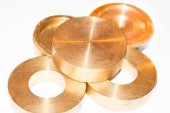 Metallcirklar och plattor Arkivfoto