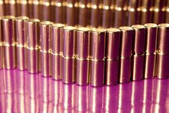 Metallcylinderbakgrund Royaltyfri Bild