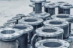 Metalldelar av pumpen arkivbild
