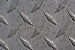 Metalldiamantplattenmuster und -hintergrund nahtlos Stockbild