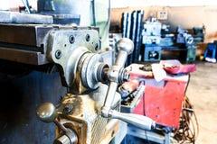Metalldrehbankmaschine Lizenzfreie Stockfotos