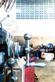 Metalldrehbankmaschine Stockbilder