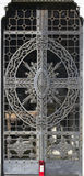 Metalldörr (den abstrakta naturbeståndsdelen) Arkivbild
