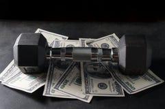 Metalldummkopf auf Geld Lizenzfreie Stockbilder
