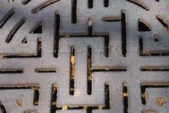 Metalleinsteigeloch Stockbild