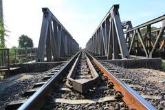 Metalleisenbahnbrücke Lizenzfreies Stockbild