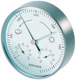 Metallentsprechungsbarometer Stockfoto