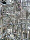 Metaller och aluminiumstålram arkivfoto