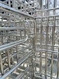 Metaller och aluminiumst?lram royaltyfri foto