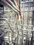 Metaller och aluminiumst?lram i lastlagerfabriken royaltyfri foto