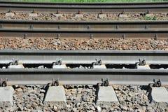 Metaller på railtrack arkivfoton