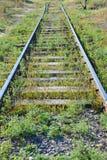 Metaller på railtrack royaltyfri fotografi