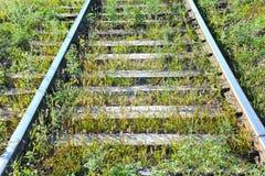 Metaller på railtrack royaltyfri foto