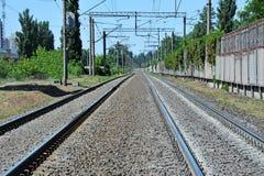 Metaller på railtrack arkivfoto