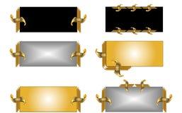 metalletiketter Arkivfoton
