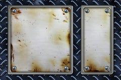 Metallfeld-Hintergrund Stockfotografie