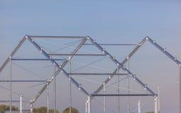 Metallgebäude-Rahmen Stockfotografie