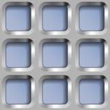Metallgitter, Vector nahtloses Muster Lizenzfreies Stockfoto