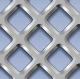 Metallgitter, Vector nahtloses Muster Stockbild