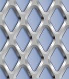 Metallgitter, Vector nahtloses Muster Stockfotos