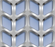 Metallgitter, Vector nahtloses Muster Lizenzfreie Stockbilder