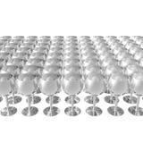 Metallglas getrennt auf einem Weiß Stockbilder