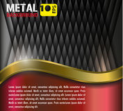 Metallgoldhintergrund Stock Abbildung