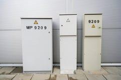 Metallgrå färgaskar arkivbilder