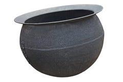 Metallgroßer kessel Stockfoto