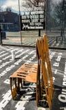 Metallguß verrostete Stuhl Stockbilder