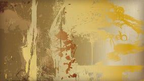 Metallguldfärgstänk Arkivbild