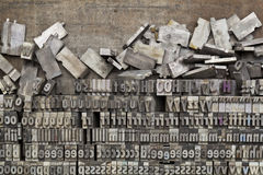 Metallhhhochhdruck-Druckenblöcke Stockbilder
