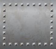 Metallhintergrund mit Nieten Stockbilder