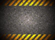 Metallhintergrund mit Vorsichtband Lizenzfreies Stockbild