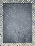 Metallhintergrund oder -rahmen Stockfotografie