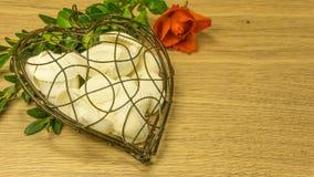 Metallhjärta med skal arkivfoton