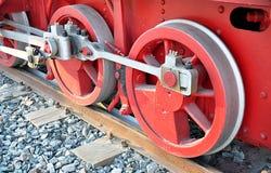 Metallhjul och lokomotiv Royaltyfria Bilder