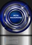 Metallholzhintergrund Lizenzfreie Abbildung