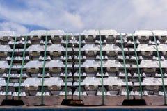 Metalli di alluminio dei lingotti Immagine Stock Libera da Diritti