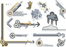 Metalli grafici degli elementi Fotografia Stock