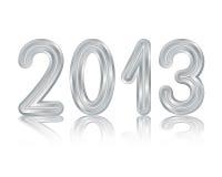 Metallic 2013 design. Isolated with shadows on white metallic 2013 design stock illustration