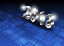 Metallic 2013 design. On technology background Royalty Free Stock Images