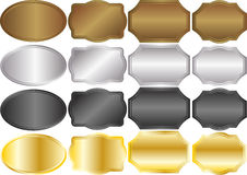 Metallic. Backgrounds gold silver black Royalty Free Stock Photography